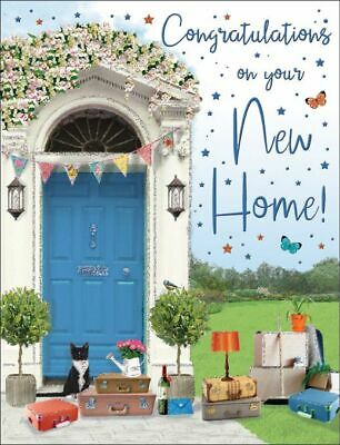 New Home Card - Blue Front Door - Regal - Glittered Quality NEW  • 2.59£