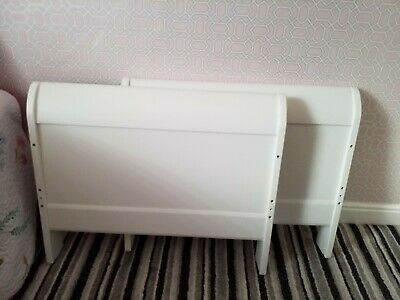 £50 • Buy Used Mamas & Papas Cot Bed With Mattress, White In Good Condition With Fittings