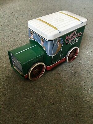 Novelty Collectable Marks & Spencer Van With Wheels Empty Sweet / Biscuit Tin • 9.95£
