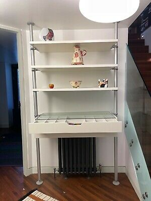 Contemporary Wall Unit With Shelves And Draws Fully Adjustable Floor To Ceiling • 10£