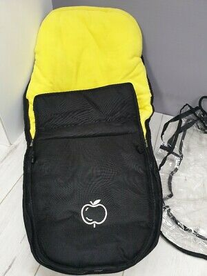 ICandy Apple Footmuff In Black With Lemon Lining (EX-DISPLAY) • 26.99£