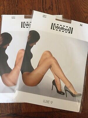 Wolford Tights 2 Pairs Luxe 9 M Caramel • 4.10£