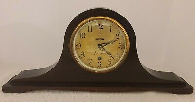 $99.99 • Buy Antique Working 1920s SESSIONS 8 Day Wind-Up Mahogany Tambour Mantel Shelf Clock