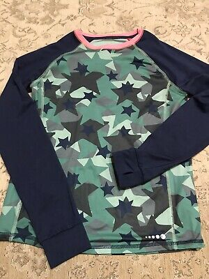Boden Base Layer Style Long Sleeved Top - Camo And Navy - 13/14 Years • 0.99£