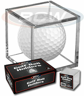*2 Golf Ball Display Cases Stackable Square Cube Holder Stands • 5.13£