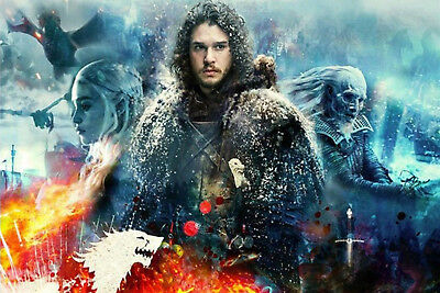 AU0.98 • Buy Game Of Thrones Cartoon DIY 5D Diamond Painting Full Drill Embroidery Art /3032
