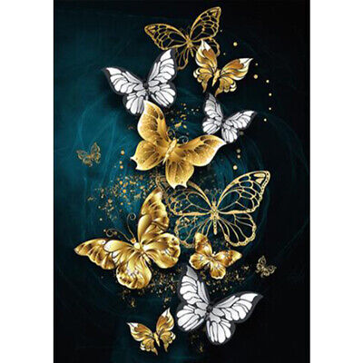AU7 • Buy 5D DIY Diamond Painting Butterfly Rhinestone Mosaic Kits Full Round Wall Crafts