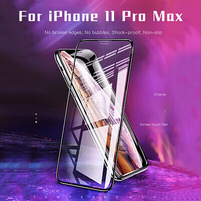 Screen Protector For IPhone 11 Pro MAX 9D Curved FULL GORILLA TEMPERED GLASS UK • 3.99£