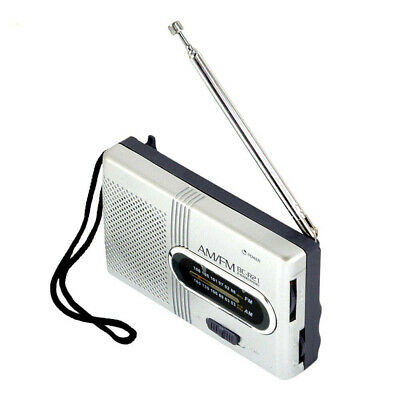 Portable AM/FM Radio Telescopic Antenna Pocket Small World Receiver Speaker#jox • 9.23£