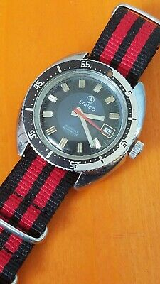 Vintage Orologio Watch Lanco Automatic Diver Cal2481 • 169.29£