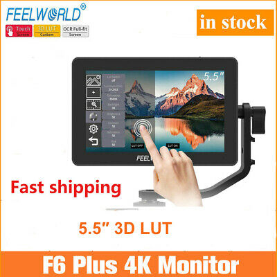 AU215 • Buy FEELWORLD F6 PLUS 5.5  On Camera DSLR Field Video Monitor 3D LUT Touch Screen AU