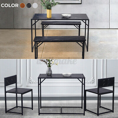 Dining Table And Chairs Bench Set 2/4 Seat Quality Wooden Dining Room Funiture • 103.99£