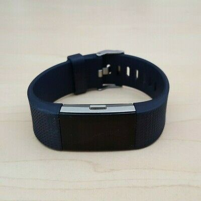 AU59.50 • Buy Fitbit Charge 2 Heart Rate Fitness Activity Tracker Dark Blue Wristband Large