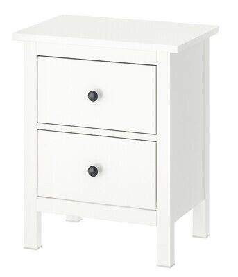 IKEA HEMNES Chest Of 2 Drawers, White, 54 X 66 Cm - Brand New - Free Postage • 119.95£