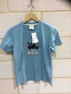 Triumph Motorcycle Ladies Blue 'ride On' T Shirt NEW Size M • 19.99£