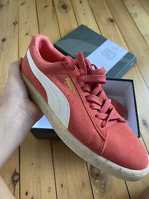AU9.99 • Buy Puma Suede Pink White Shoes In Box New Sneakers Size 10 Classic