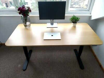 IKEA BEKANT Sit / Standing Desk WithElectric Height Adjustment 160 X 80cm Oak • 0.99£