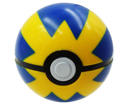 1pc Pokemon 2.5  Quick Ball Blue And Yellow With Pikachu Pop Open USA Shipper • 10.61£