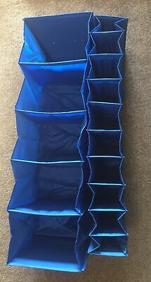 2 Ikea Blue Wardrobe Clothes & Shoe Organisers For Wardrobes & Hanging Rails • 6.99£