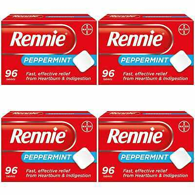 Rennie Peppermint Heartburn Tablets Heartburn Relief Indigestion Relief 4 X 96  • 25.99£