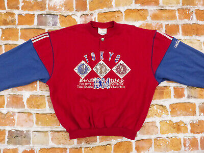 Adidas OLYMPIA Pullover 1964 Tokyo Olympic Winter Games Red Size: M Tip Top • 281.24£