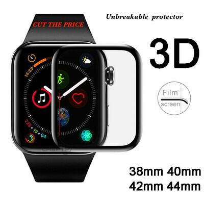$ CDN5.10 • Buy Apple Watch Full Edges Cover 3D Tempered Glass Protector Series SE/6/5/4/3/2/1