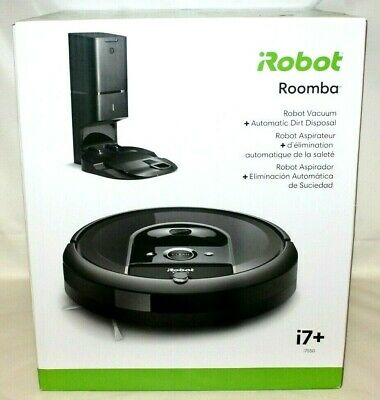 IRobot Roomba I7+ (i7550) Wi-Fi Connected Robot Vacuum W/Automatic Dirt Disposal • 507.80£