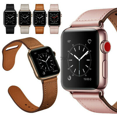 $ CDN13.71 • Buy Leather Fasion Strap Band For Apple Watch SE 6 5 4 3 2 1 IWatch 38 /42/40 /44mm
