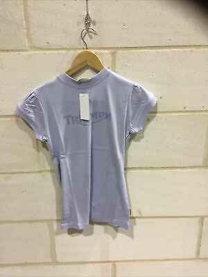 Triumph Motorcycle Ladies Lilac Print T Shirt NEW Size XS • 19.99£