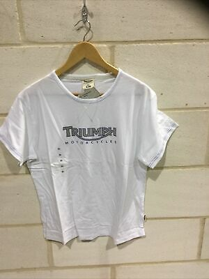 Triumph Motorcycle Ladies White 'logo' T Shirt NEW Size XXXL • 19.99£