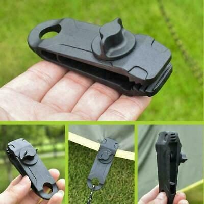 5-10X Tarp Clips Lock Grip Awning Clamp Set Instant Clip Tent Accessories Black • 9.69£