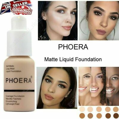 PHOERA® Foundation Concealer Full Coverage Makeup Matte Brighten Long Lasting UK • 4.99£
