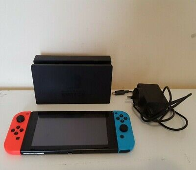 AU379.50 • Buy Nintendo Switch Console (HAC-001) With Neon Red & Blue Joy‑cons Joysticks