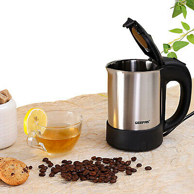£14.99 • Buy Geepas 1000W Travel Electric Stainless Steel Kettle Boiler For Hot Water 500ML
