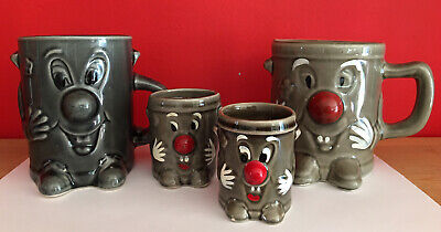 Vintage Dusty Bin Mug X2 Egg Cup X2 321 80s Tv • 19.99£