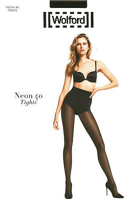 LUXUS PUR: WOLFORD Tights NEON 40 (18391), S, Concret, NEU&OVP 2020er Cover • 21.67£