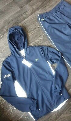 Lacoste Sport Mens Hooded Tracksuit (Size 2) Uk EXTRA SMALL Brand New With Tags • 85£