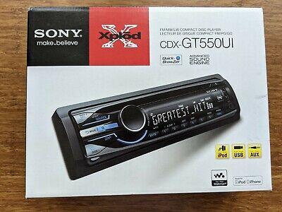 Sony Explode CDX-GT550UI Car CD Player Radio Head Unit AM/FM/MW/AUX/MP3 USB • 37£