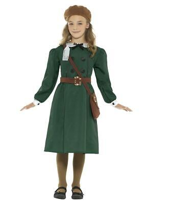 Child WW2 Evacuee Girl War Time Civilian  Fancy Dress Party Costume • 13.39£
