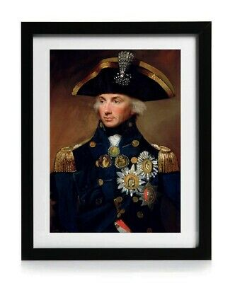 £7.75 • Buy Admiral Horatio Lord Nelson Portrait Painting A4 Picture Print Poster