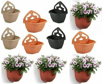 Plastic Garden Fence Flower Basket Pot Planter Container Wall Mounted Plant • 5.85£