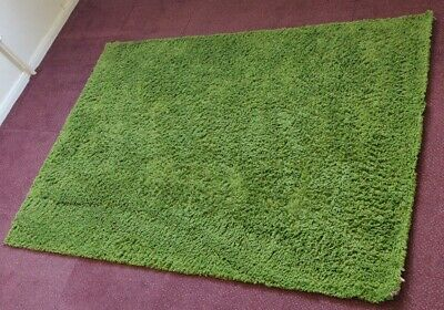 Ikea Hampen Rug High Pile Green Home Bedroom Living Room 133 X 195cm  • 17£