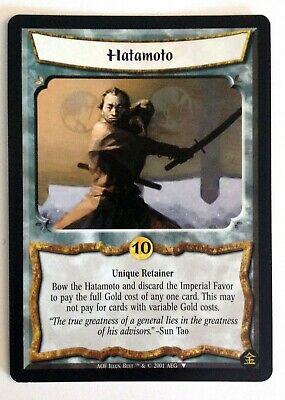 Hatamoto L5R Legend Of The Five Rings CCG Gold Edition Promo • 1.42£