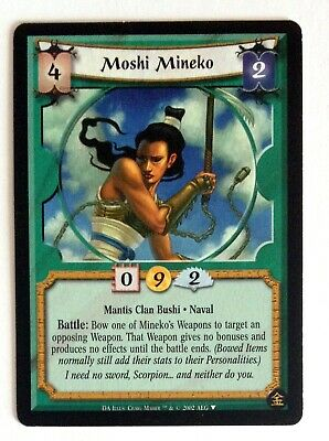 Moshi Mineko L5R Legend Of The Five Rings CCG Gold Edition Promo • 2.12£