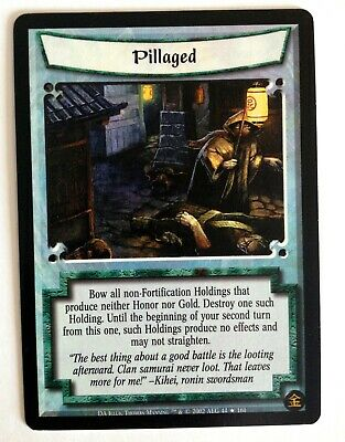 Pillaged L5R Legend Of The Five Rings CCG Dark Allies • 1.77£
