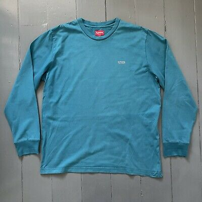 $ CDN2.19 • Buy Supreme Reflective Box Logo Long Sleeve T-Shirt - Teal - Large - L