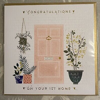 🏠WHISTLEFISH CARD 'Congratulations On Your First Home, FAB QUALITY🥂🏠 NEW HOME • 2.50£