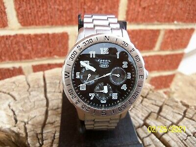 $ CDN39.14 • Buy Men's Stainless Steel Fossil DRT DT-4013 50m Watch All Original Works No Reserve
