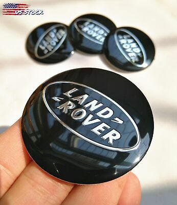 $14.99 • Buy 4x 56mm 2.2  Auto Car Wheels Center Cap Decal Sticker For Land Rover Black