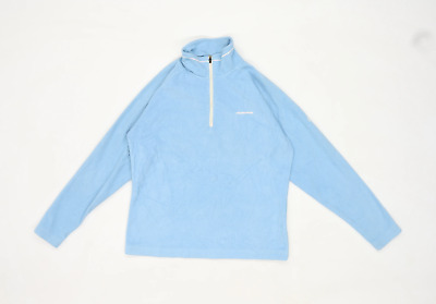 Craghoppers Womens Size 10 Fleece Blue Half Zip Jacket • 10£
